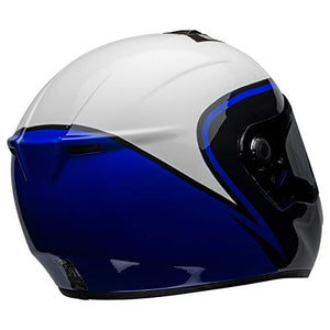Bell SRT Street Motorcycle Helmet (Assassin Gloss White/Blue/Black, Large) - MyBikeCo