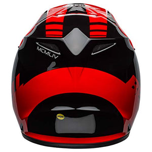Bell MX-9 MIPS Off-Road Motorcycle Helmet (Dash Gloss Red/Black, Medium) - MyBikeCo