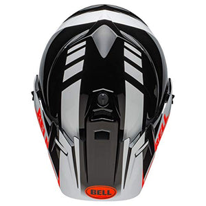 Bell MX-9 Adventure MIPS Full-Face Motorcycle Helmet (Dash Gloss Black/White/Orange, Large) - MyBikeCo
