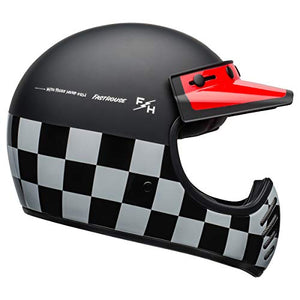 Bell Moto-3 Off-Road Motorcycle Helmet (Fasthouse Checkers Matte/Gloss Black/White/Red, Large) - MyBikeCo