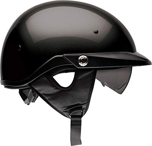 Bell Pit Boss Open-Face Motorcycle Helmet (Solid Black, X-Large/XX-Large) - MyBikeCo