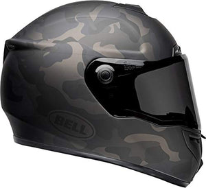 Bell SRT Street Motorcycle Helmet (Stealth Matte Black/Camo, Medium) - MyBikeCo