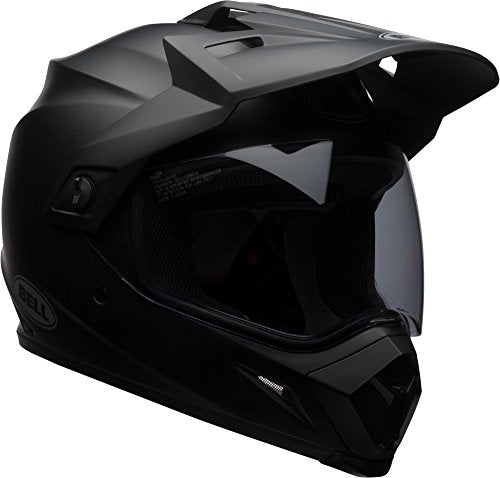 Bell MX-9 Adventure MIPS Full-Face Motorcycle Helmet (Solid Matte Black, Medium) - MyBikeCo