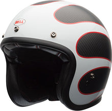 Load image into Gallery viewer, Bell Custom 500 Carbon Open-Face Motorcycle Helmet (Ace Cafe Tonup Black/White, Large) - MyBikeCo