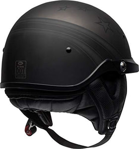 Bell Pit Boss Open-Face Motorcycle Helmet (Honor Matte Titanium/Black, X-Small/Small) - MyBikeCo