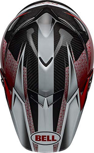 Bell Moto-9 Flex Off-Road Motorcycle Helmet (Hound Matte/Gloss Red/White/Black, X-Large) - MyBikeCo