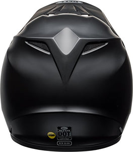 Bell MX-9 MIPS Equipped Motorcycle Helmet (Solid Matte Black, Large) - MyBikeCo