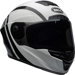 Bell Star MIPS DLX Street Motorcycle Helmet (Tantrum Matte/Gloss White/Black/Titanium, Medium) - MyBikeCo