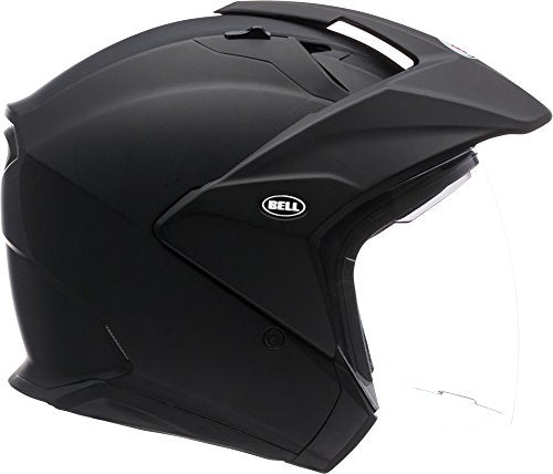 Bell Mag-9 Open Face Motorcycle Helmet (Solid Matte Black, X-Large) - MyBikeCo