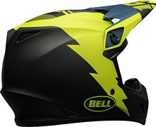 Load image into Gallery viewer, Bell MX-9 MIPS Off-Road Motorcycle Helmet (Strike Matte Blue/Yellow, Large) - MyBikeCo
