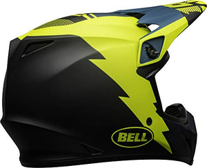 Bell MX-9 MIPS Off-Road Motorcycle Helmet (Strike Matte Blue/Yellow, Large) - MyBikeCo
