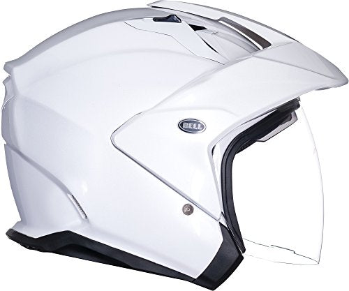 Bell Mag-9 Open Face Motorcycle Helmet (Solid Gloss Pearl White, X-Large) - MyBikeCo