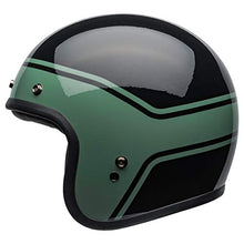 Load image into Gallery viewer, Bell Custom 500 Open-Face Motorcycle Helmet (Streak Gloss Black/Green, Large) - MyBikeCo