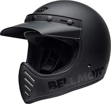 Load image into Gallery viewer, Bell Moto-3 Off-Road Motorcycle Helmet (Classic Matte/Gloss Blackout, Medium) - MyBikeCo
