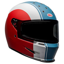 Load image into Gallery viewer, Bell Eliminator Street Motorcycle Helmet (Slayer Matte White/Red/Blue, Large) - MyBikeCo