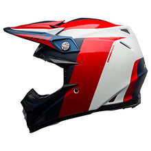 Load image into Gallery viewer, Bell Moto-9 Flex Off-Road Motorcycle Helmet (Division Matte/Gloss White/Blue/Red, X-Large) - MyBikeCo