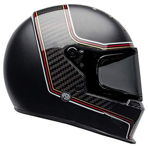 Bell Eliminator Carbon Street Motorcycle Helmet (RSD The Charge Matte/Gloss Black, Large) - MyBikeCo