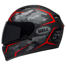 Load image into Gallery viewer, Bell Qualifier Street Helmet (Stealth Camo Matte Black/Red - Large) - MyBikeCo