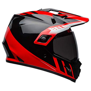 Bell MX-9 Adventure MIPS Full-Face Motorcycle Helmet (Dash Gloss Black/Red/White, XX-Large) - MyBikeCo