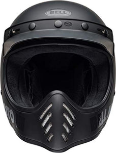 Bell Moto-3 Off-Road Motorcycle Helmet (Classic Matte/Gloss Blackout, Medium) - MyBikeCo