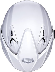 Bell Mag-9 Open Face Motorcycle Helmet (Solid Gloss Pearl White, Medium) - MyBikeCo