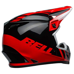 Bell MX-9 MIPS Off-Road Motorcycle Helmet (Dash Gloss Red/Black, Large) - MyBikeCo