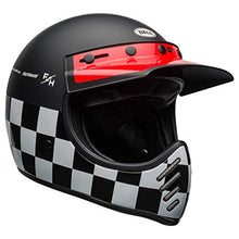 Load image into Gallery viewer, Bell Moto-3 Off-Road Motorcycle Helmet (Fasthouse Checkers Matte/Gloss Black/White/Red, Large) - MyBikeCo