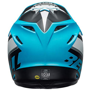 Bell Moto-9 MIPS Off-Road Motorcycle Helmet (Prophecy White/Black/Blue, Large) - MyBikeCo
