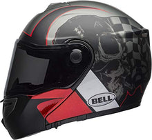 Load image into Gallery viewer, Bell SRT Modular Street Motorcycle Helmet(Hart Luck Skull Charcoal/White/Red, Large) - MyBikeCo