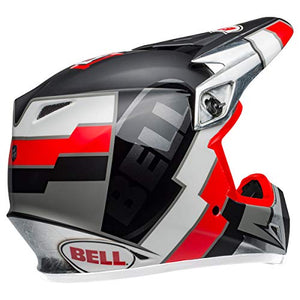 Bell MX-9 MIPS Off-Road Motorcycle Helmet (Twitch Replica Matte Gloss Black/Red/White, XX-Large) - MyBikeCo