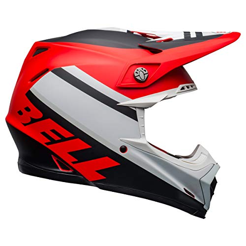 Bell Moto-9 MIPS Dirt Helmet - Prophecy Matte White/Red/Black - X-Large - MyBikeCo