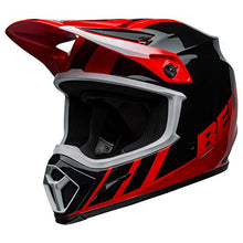 Load image into Gallery viewer, Bell MX-9 MIPS Off-Road Motorcycle Helmet (Dash Gloss Red/Black, Medium) - MyBikeCo