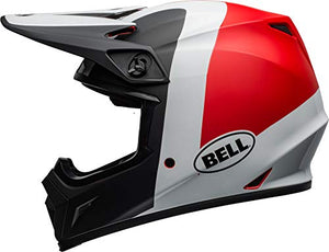 Bell MX-9 MIPS Off-Road Motorcycle Helmet (Presence Matte/Gloss Black/White/Red, X-Small) - MyBikeCo