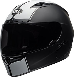 Bell Qualifier DLX Full-Face Motorcycle Helmet (Rally Matte Black/White, Large) - MyBikeCo