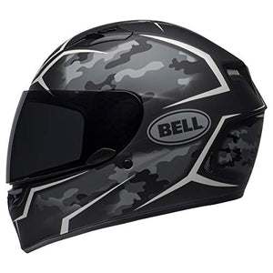 Bell Qualifier Full-Face Motorcycle Helmet (Stealth Camo Matte Black/White, Medium) - MyBikeCo