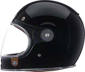 Bell Bullitt Full-Face Motorcycle Helmet (Solid Gloss Black, X-Small) - MyBikeCo