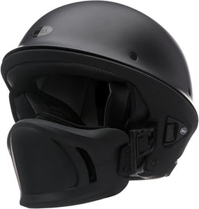 Bell Rogue Half-Size Motorcycle Helmet (Solid Matte Black, Large) - MyBikeCo