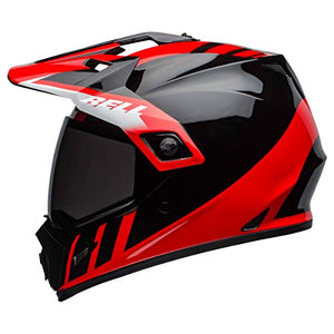 Bell MX-9 Adventure MIPS Full-Face Motorcycle Helmet (Dash Gloss Black/Red/White, X-Large) - MyBikeCo