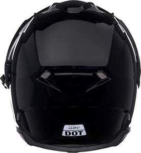 Bell Mag-9 Open Face Motorcycle Helmet (Solid Gloss Black, X-Large) - MyBikeCo