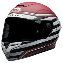 Load image into Gallery viewer, Bell Race Star DLX Full-Face Motorcycle Helmet (RSD The Zone Matte/Gloss White Candy Red, Large) - MyBikeCo