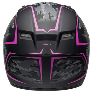 Bell Qualifier Full-Face Motorcycle Helmet (Stealth Camo Matte Black/Pink, XXX-Large) - MyBikeCo