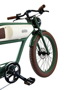 "Greaser Retro Style Electric Bike - 26"" Wheels, 500W Brushless Electric Motor - MyBikeCo"