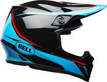 Load image into Gallery viewer, Bell MX-9 MIPS Off-Road Motorcycle Helmet (Gloss Black/Cyan/Red Torch, XX-Large) - MyBikeCo