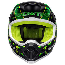 Load image into Gallery viewer, Bell MX-9 MIPS Off-Road Motorcycle Helmet (Showtime Replica Matte Black/Green, Large) - MyBikeCo