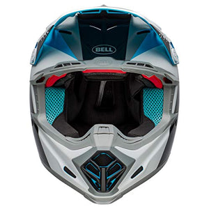 Bell Moto-9 Flex Off-Road Motorcycle Helmet (Division Matte/Gloss White/Black/Blue, X-Large) - MyBikeCo