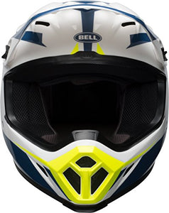 Bell MX-9 MIPS Off-Road Motorcycle Helmet (Gloss White/Blue/Yellow Torch, Small) - MyBikeCo