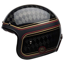 Load image into Gallery viewer, Bell Custom 500 Carbon Open-Face Motorcycle Helmet (RSD Checkmate Matte/Gloss Black/Gold, X-Large) - MyBikeCo