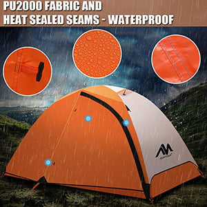 2 Person Motorcycle Backpacking Tent for Camping Ultralight Waterproof Double Layer Easy Setup Bike packing - MyBikeCo