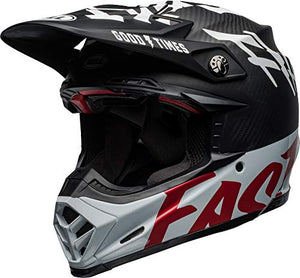 Bell Moto-9 Flex Off-Road Motorcycle Helmet (Fasthouse WRWF Matte/Gloss Black/White/Red, Small) - MyBikeCo