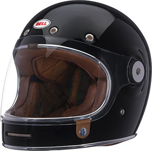 Bell Bullitt Full-Face Motorcycle Helmet (Solid Gloss Black, Medium) - MyBikeCo